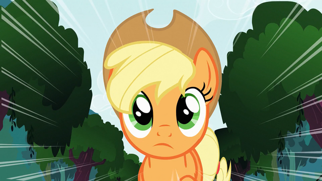 File:Applejack thinking S3E9.png