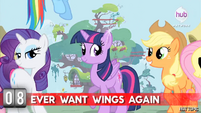 "Hot Minute with Rarity ""ever want wings again"""
