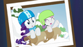 Photo of Rarity and Sweetie Belle sledding S7E6.png