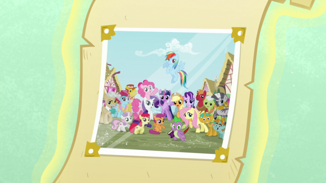 File:Photograph with Ponyville citizens S6 opening.png