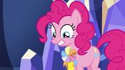 Pinkie Pie wearing an ambassadorship ribbon S7E11.png