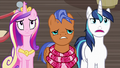 Shining Armor grimly agreeing with Spearhead S7E3.png