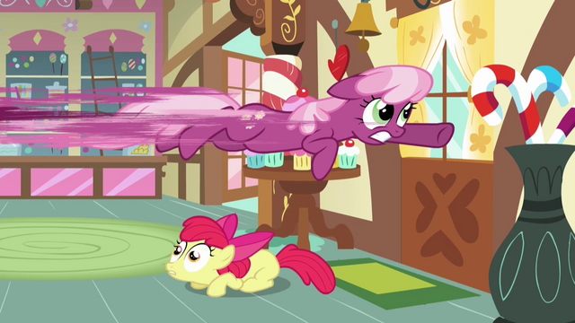 File:Cheerilee flying out the door S2E17.png