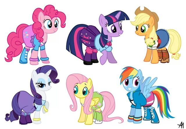 File:FANMADE Mane Six in Equestria Girls clothes.jpg