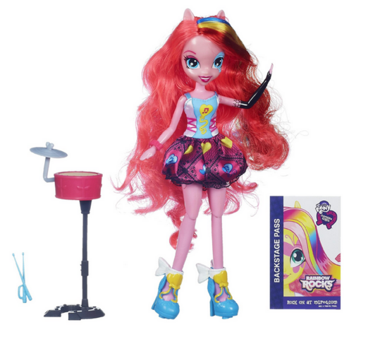 File:Pinkie Pie Equestria Girls Rainbow Rocks singing doll.png