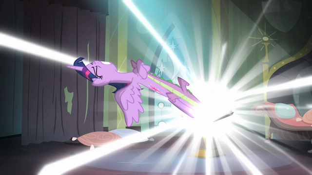 File:Twilight trying to pull Spike out of the comic book S4E06.png