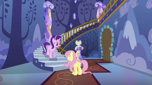 File:Starlight asks Fluttershy where the animals are S6E21.png