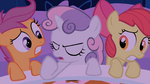 Sweetie Belle getting ready to sing S1E17