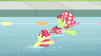 Apple Bloom and Granny putting one hoof up S4E20