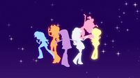Main cast human silhouettes EG opening
