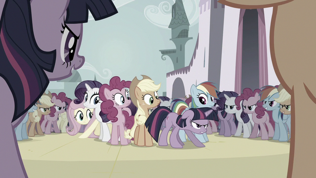 File:Mane Six vs. the changelings S6E16.png