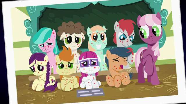 File:Picture Day photo of Cheerilee and sick foals S7E3.png