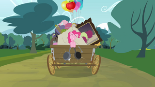 Pinkie Pie singing with pans hitting each other S4E09