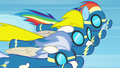 Rainbow, Surprise, and male Wonderbolt flying S6E7.png