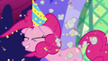 Confetti cannon explodes behind Pinkie S5E3.png