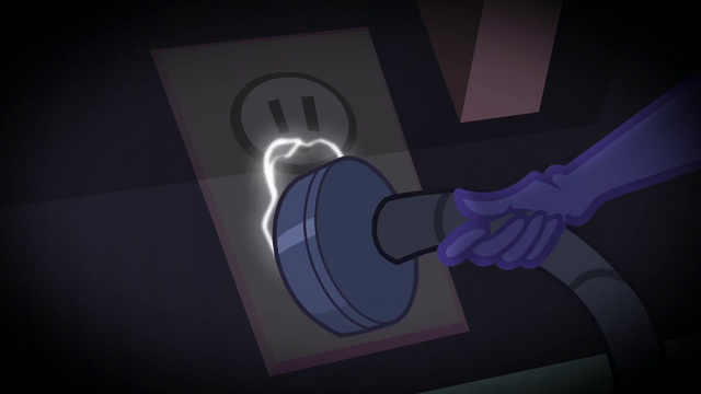 File:Twilight Sparkle plugs in the power cord SS5.png