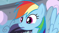 Rainbow Dash sweating S4E21