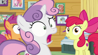 Sweetie Belle shocked to see Rarity S7E6