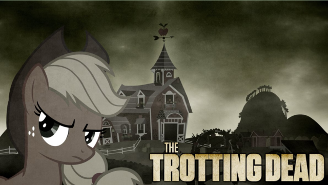 File:FANMADE Applejack The Trotting Dead.png