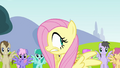Fluttershy surrounded by Pegasi S2E22.png