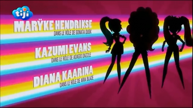 File:My Little Pony Equestria Girls Rainbow Rocks 'Maryke Hendrikse as Sonata Dusk', 'Kazumi Evans as Adagio Dazzle' & 'Diana Kaarina as Aria Blaze' Credits - French.png