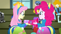 Pinkie Pie gives Fluttershy her megaphone SS4.png