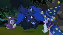 Princess Luna on her own lightning cloud S2E04