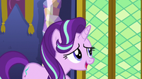 Starlight asking where the library is S6E1