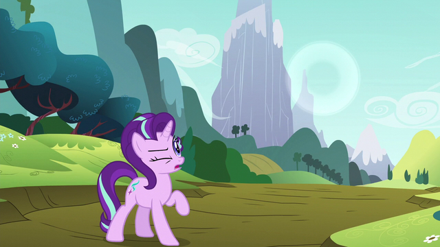 File:Starlight looking at Rainbow's sonic boom S6E6.png