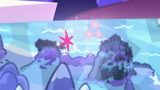 File:Twilight and Fluttershy's cutie marks float over Smokey Mountains S5E23.png