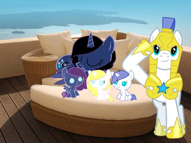 File:FANMADE Ponies resting on modular daybed.jpg