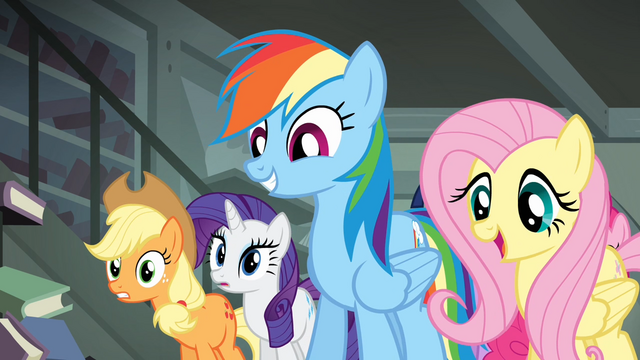 File:Fluttershy telling Daring Do that Rainbow wants to help S4E04.png