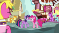 Pinkie Pie's fans laughing at her S7E14.png