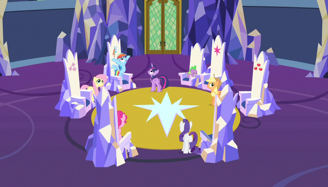 """File:Rainbow """"and got this sweet castle!"""" S5E01.png"""