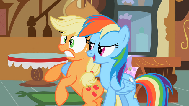 File:Applejack and Rainbow Dash S02E08.png