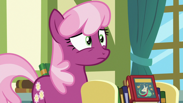 File:Cheerilee notices something behind Twilight S7E3.png
