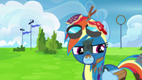 Rainbow Dash feeling humiliated S6E7