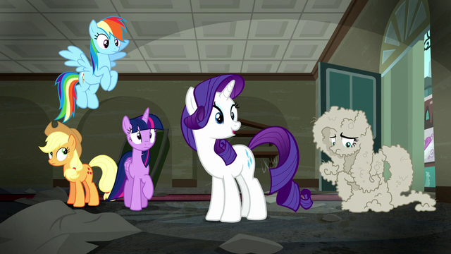 "File:Rarity ""My clothes arrive soon"" S6E9.png"