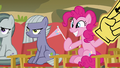 Marble, Limestone, and Pinkie in the audience S7E4.png