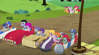 "Scootaloo ""the only older ponies driving!"" S6E14"