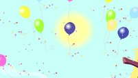 Balloons floating upward S4E12
