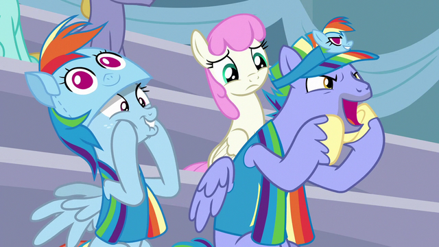 File:Bow Hothoof cheering for Rainbow Dash S7E7.png