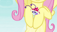 Fluttershy catching Breezette S4E16
