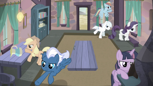 File:Mane Six and village ponies storm Starlight's house S5E2.png