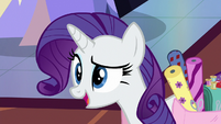 Rarity suggests staying in the foyer S6E21
