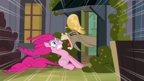 Cranky Doodle shouting at Pinkie S2E18