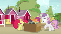 Cutie Mark Crusaders digging through the box S7E8