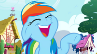 Rainbow Dash teary eyed laughter S01E01
