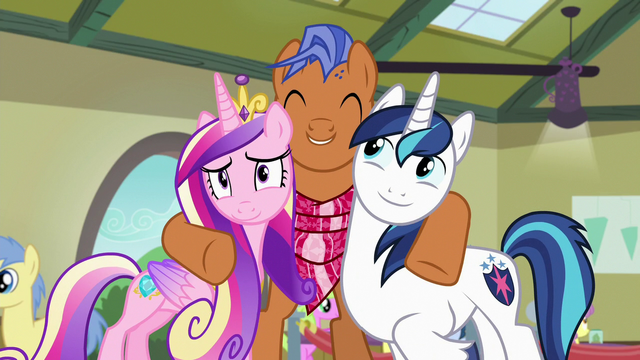File:Spearhead hugging Cadance and Shining Armor S7E3.png