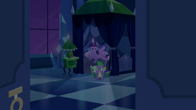 File:Twilight and Spike ready to give chase EG.png